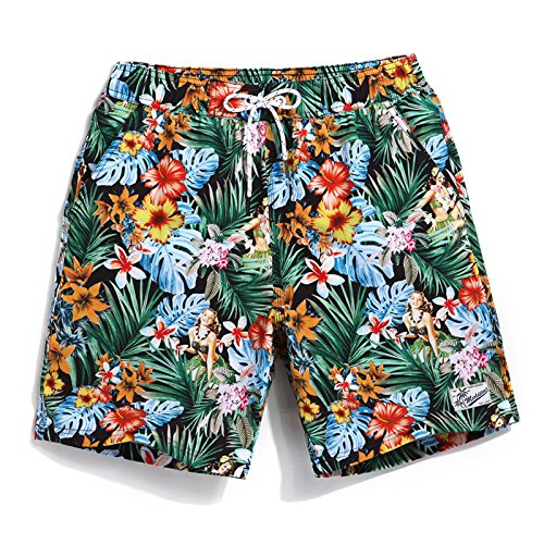 FFaibleer view XXXL HAIYOUVK High-End Four-Faced Elastic plage Pants Male grand Taille Loose Décontracté courtes Seaside Resort Male Swim Tcourirks Hot Spbague Pants