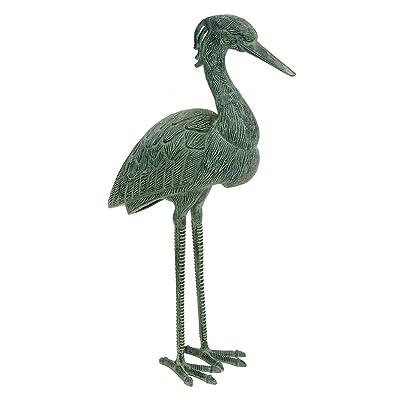 Achla Designs Stately Blue Heron Garden Statue : Outdoor Statues : Garden & Outdoor