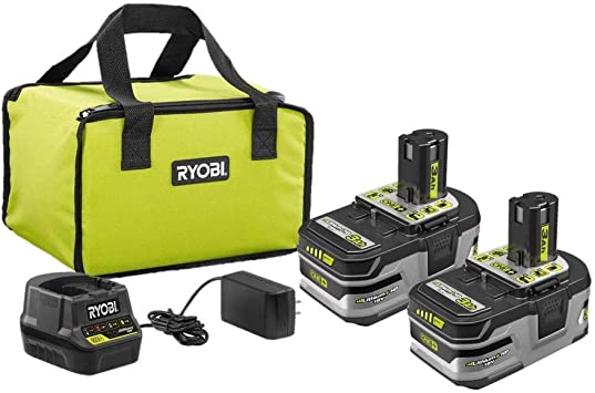 Starter Kit with Charger and Bag LITHIUM HP 3.0 Ah Battery 2-Pack Brushless Impact Driver with ONE RYOBI P166-P238 18-Volt ONE
