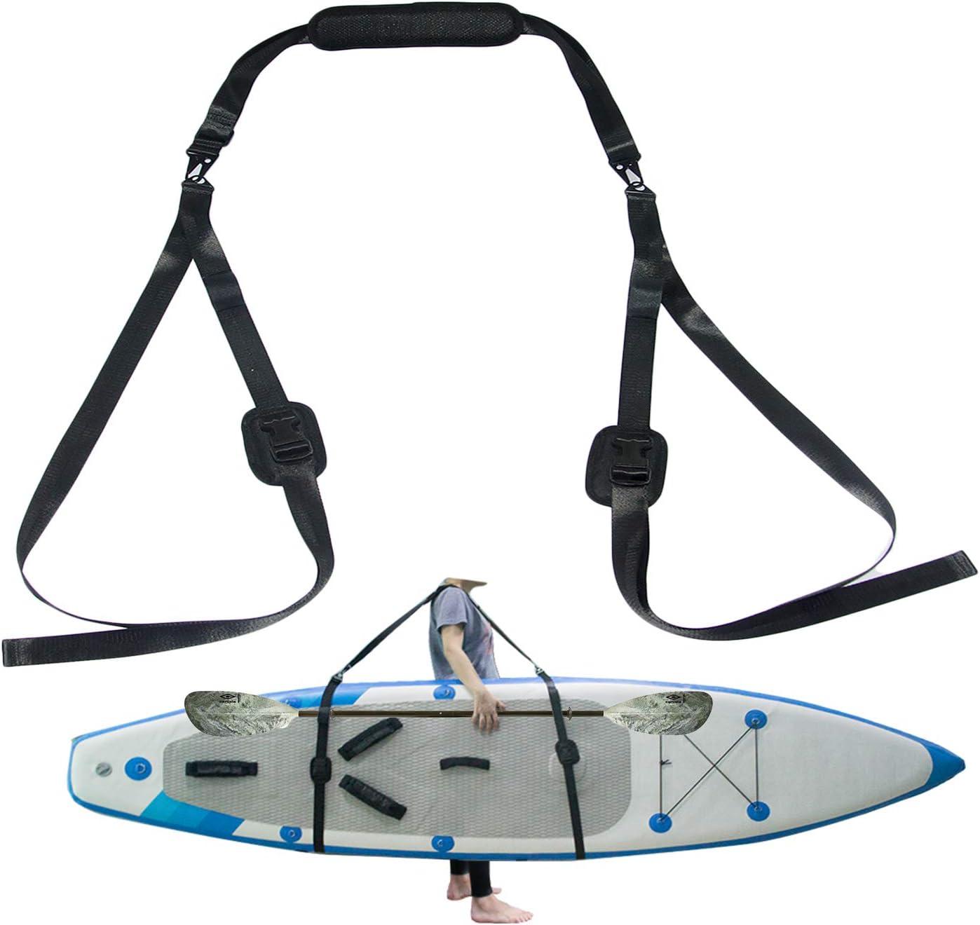 Verstellbarer Kajak Sup Trageriemen Multi Use Schultergurt Für Surfboard Stand Up Paddleboard Kanu Longboard Tragegurt Paddel Board Zubehör Sport Freizeit