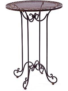 Amazon De Stehtisch 101cm Eisen Gartentisch Bistrotisch Antik Stil