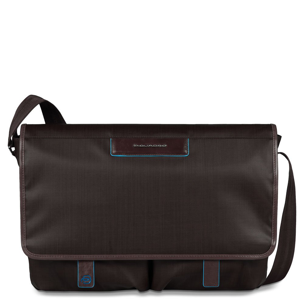 Piquadro Messenger with Two Front Pockets, Mahogany, One Size