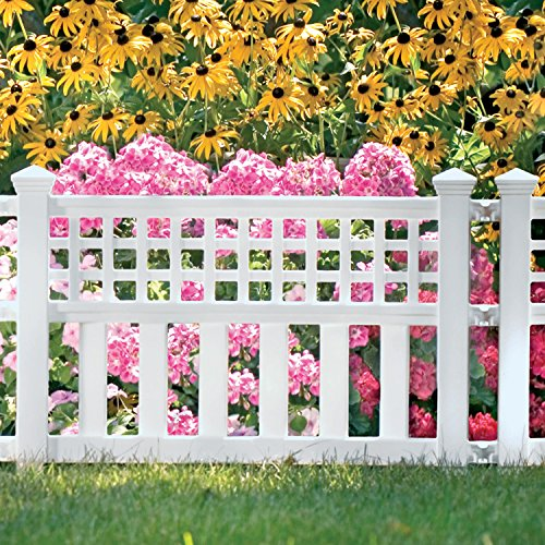 Amazon.com : Suncast GVF24 Grand View Fence, White : Outdoor Decorative  Fences : Garden U0026 Outdoor