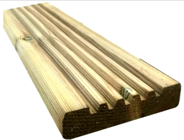 10 x vollst/ändig behandelte Holz-Terrassendielen 95 mm breit x 20 mm dick. 2,4 m L/änge