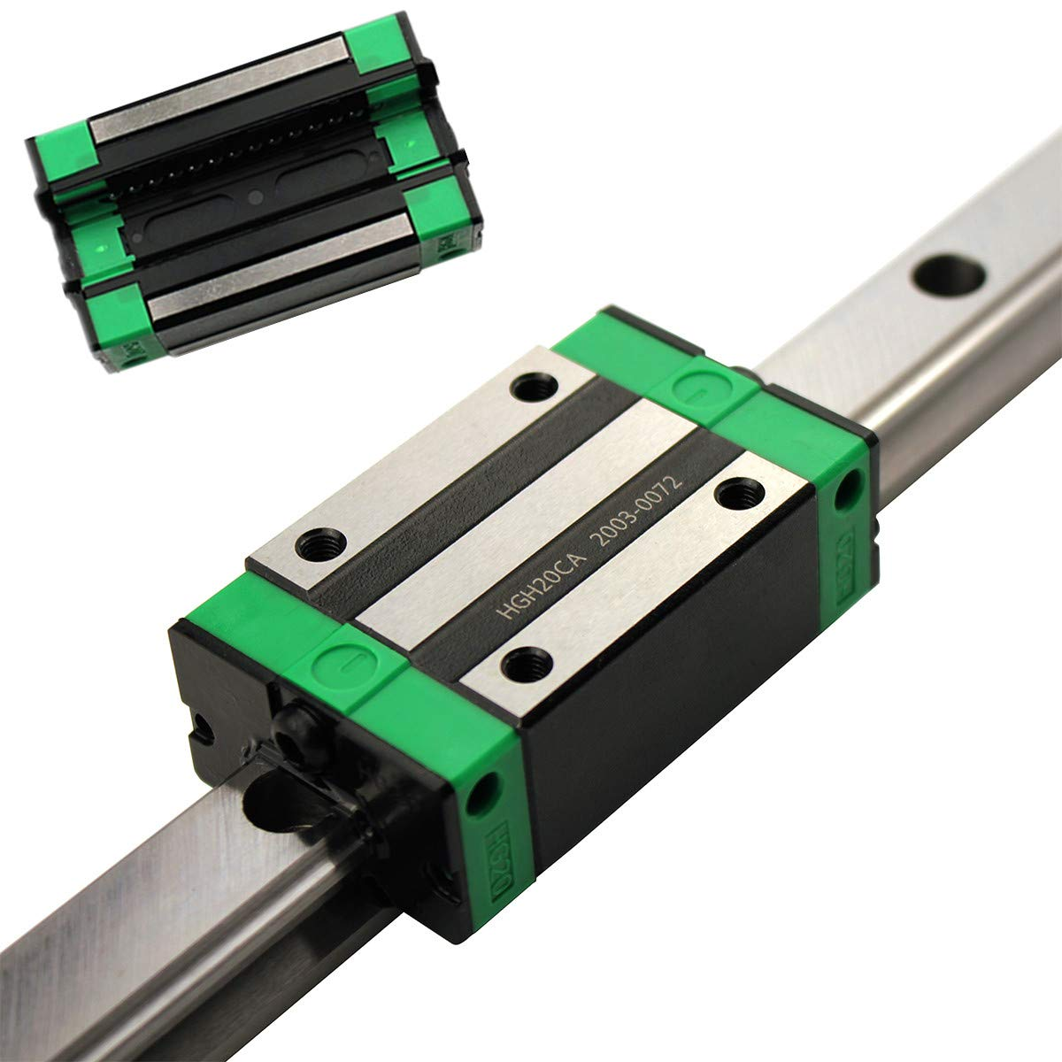 Anti-Backlash Ballscrew with End Machined for DIY CNC Routers Lathes Mills GUWANJI HGR20-300mm//11.8 inch Linear Guide Rail with HGH20CA Bearings Block 13.8 inch SFU1605-350mm