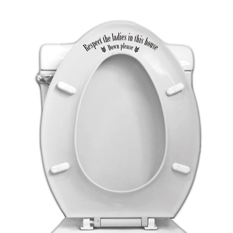 Respect The Ladies Toilet Seat Vinyl Sticker / Autocollant pour Toilette et Deco Maison Vinyl Revolution