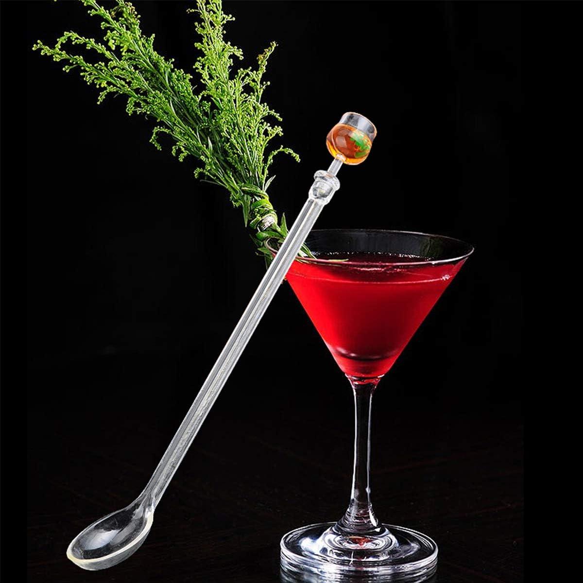 Yueser Agitateurs de Cocktail 20 Pi/èces B/âtonnets de Cocktail Cuill/ère /à Cocktail avec 20 D/écoration de Cocktail Cocktail Parapluies pour Adapt/ées /à D/écoration Alimentaire du Bar du Parti