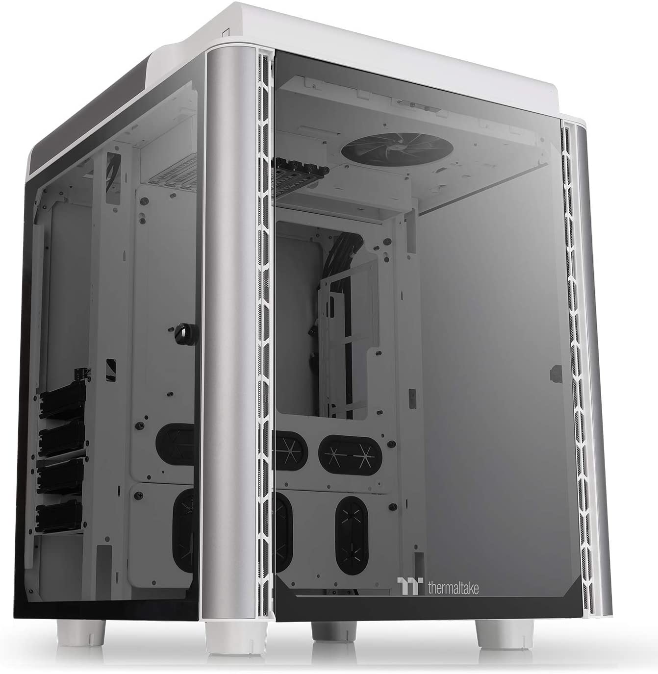 Thermaltake Level 20 HT Snow Edition 4 Tempered Glass Type-C Fully Modular E-ATX Full Tower Computer Chassis with 2 140mm Top Fan Pre-Installed CA-1P6-00F6WN-00