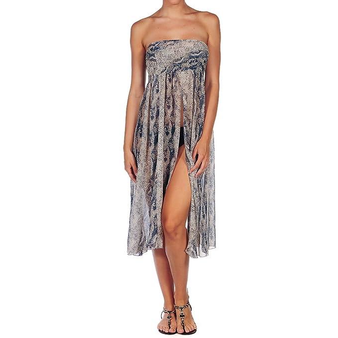 2c2238baefd9 Bibei - Vestido Pareo Beachwear para Mujer (Gris/Azul Marino, Única ...