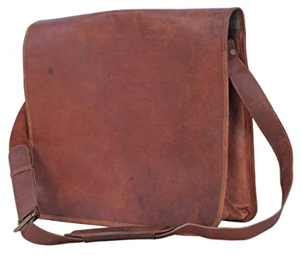 Amazon.com: Komal's Passion Leather Vintage Mens 16 Inch Leather ...