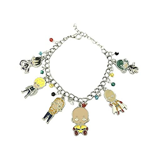 4bc1de5c2df40 Amazon.com: US FAMILY One Punch Man Anime Theme Multi Charms Jewelry ...