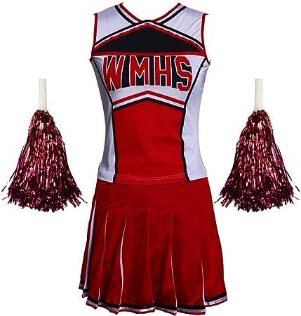 ZQ High School Girl Cheerleader - Disfraz de Animadora Cheer (Top ...