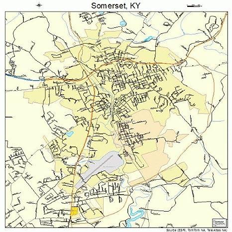 Amazon.com: Large Street & Road Map of Somerset, Kentucky KY ...