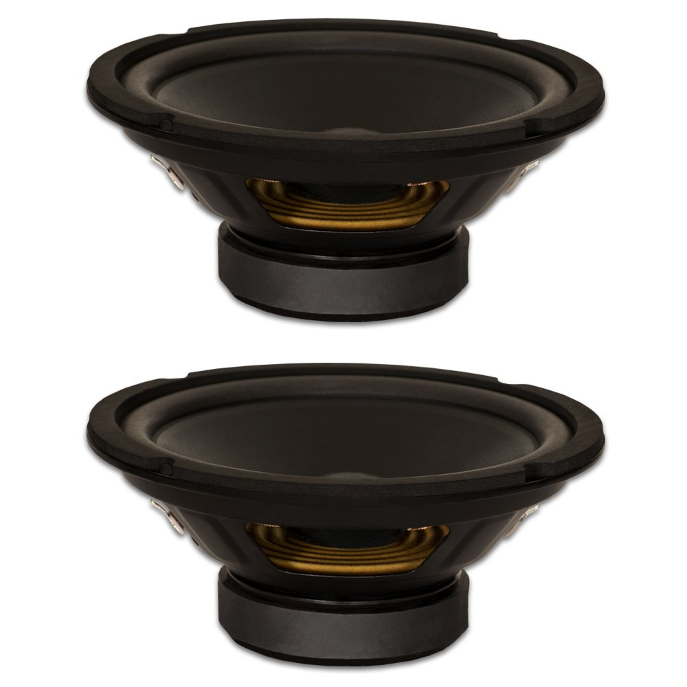 Goldwood Sound, Inc. Stage Subwoofer, Dual Voice Coil 8 Woofers 220 Watt Each 8ohm 2 Speaker Set (GW-408D-2)