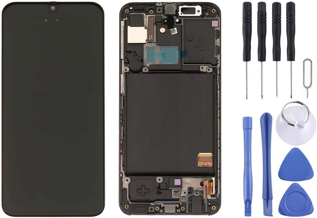 LIYUNSHU LCD Screen and Digitizer Full Assembly with Frame for Galaxy A40 SM-A405F Black Color : Black