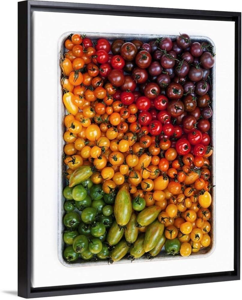 "Tomato Tray Gradient Black Floating Frame Canvas Art, 26""x32""x1.75"""