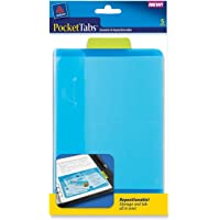 Avery PocketTabs, 5.125 x 8.315 Inches, Half-Page Size, Lime and Blue, 5 per pack (16366)