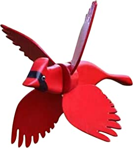 xfyx Wooden Whirligig-Asuka Series Windmill丨Bird Windmill Whirly Garden Lawn Decoration, Garden Decor Whirligigs Wind Spinners, Flying Birds Garden Windmill Art, Outdoor Lawn Yard Patio Decor