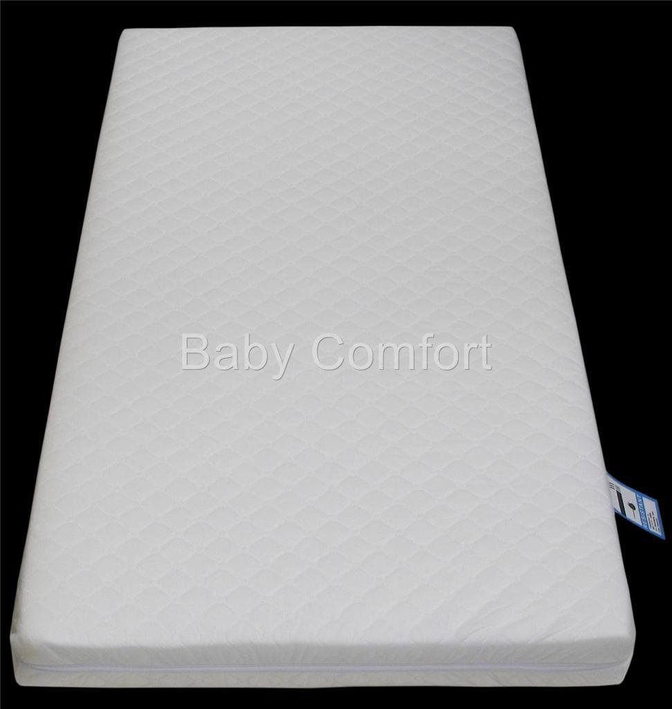Anti-Bacterial Junior / Toddler Cot | Cot Bed Foam Mattress 160 x 70 x 7.5cm with Aloe Vera Zip Cover Babycomfort