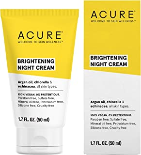 product image for ACURE Brightening Night Cream | 100% Vegan | For A Brighter Appearance | Argan Oil, Chlorella & Echinacea - Moisturizes, Protects & Hydrates | All Skin Types | 1.7 Fl Oz