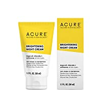 ACURE Brightening Night Cream | 100% Vegan | For A Brighter Appearance | Argan Oil...