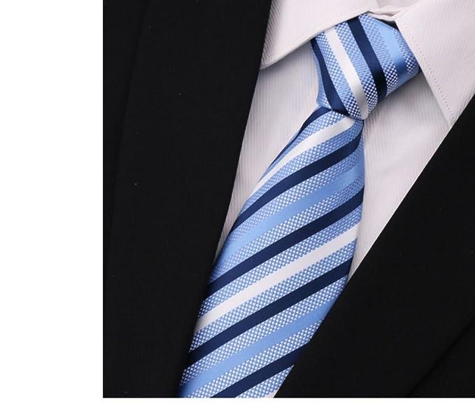 Raya o sólido color corbata tie hombres boda formal fiesta ...