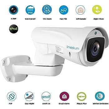 Amazon Com Inesun Ptz Poe Ip Camera 1080p 2mp Pan Tilt
