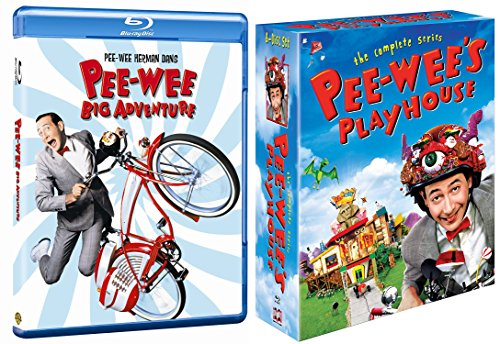 Pee-wee's Big Adventure & Pee-wee's Playhouse: The Complete Series Blu Ray Wacky Fun Funny set