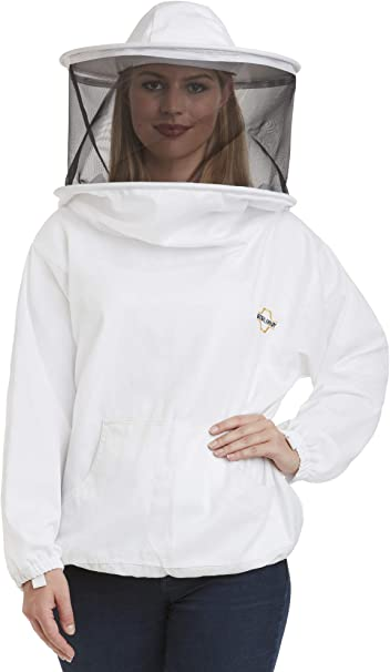 Beekeeping White Round Veil