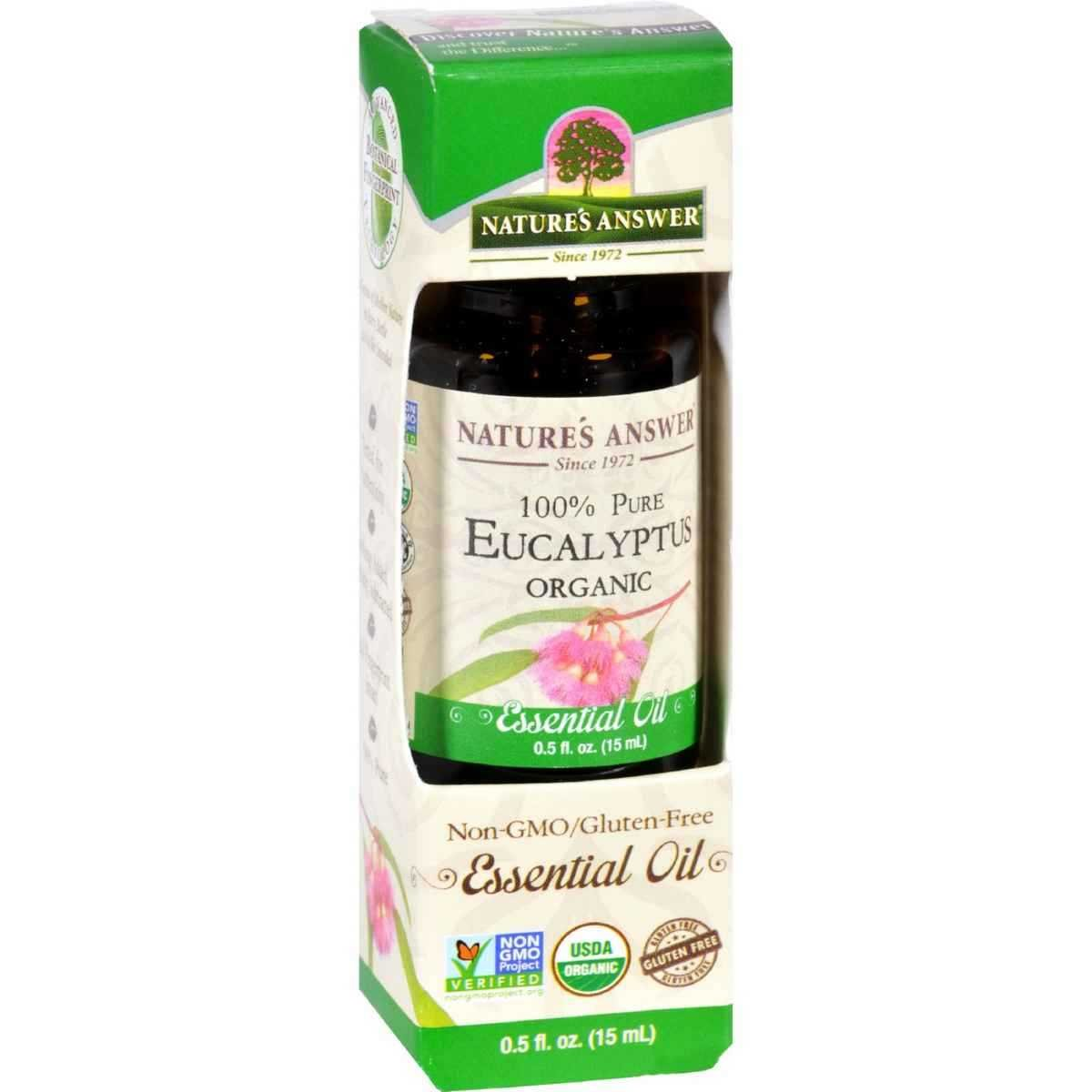 Nature's Answer - Essential Oil Organic Eucalyptus 0.5 oz UNFI - Select Nutrition