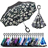 Best Brella Umbrellas - ZOMAKE Double Layer Inverted Umbrellas for Women, Reverse Review