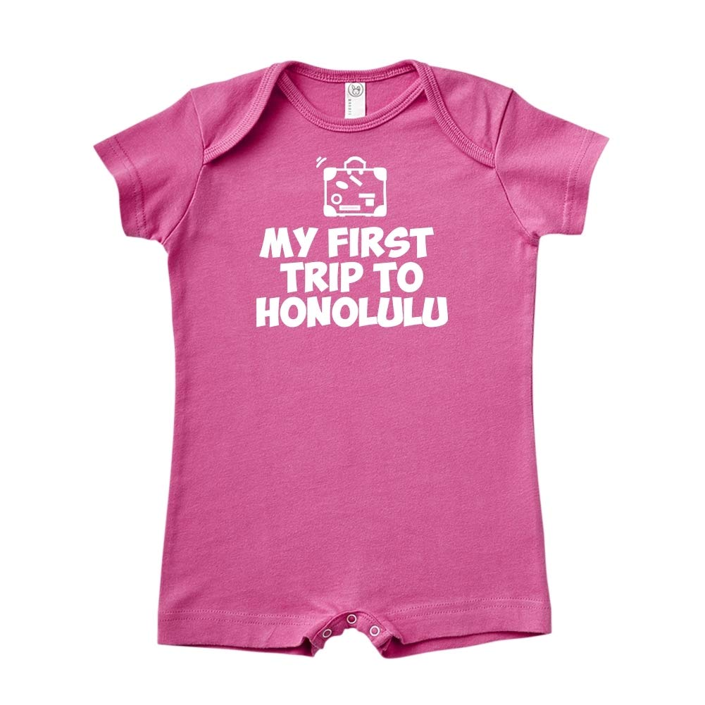 Baby Romper Mashed Clothing My First Trip to Honolulu