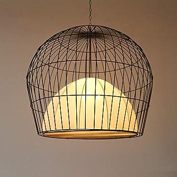 XQY Lámpara de Jaula de Pájaros China Restaurante de Hierro ...