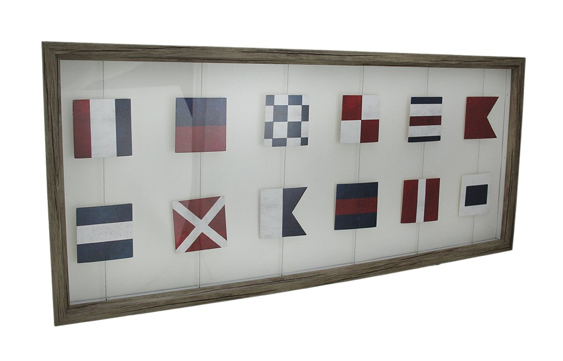 Amazon.com - Zeckos Wood & Glass Shadow Boxes Wood Framed Nautical ...