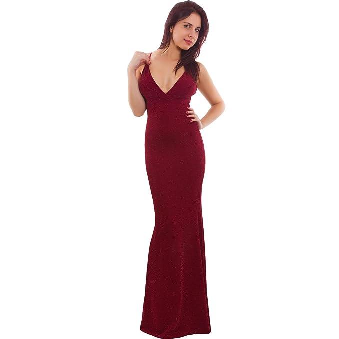 3c9a56750735 Toocool - Vestito Donna Elegante Sirena Abito Lungo Scollato Lurex Party  Sexy VB-20176  Taglia Unica