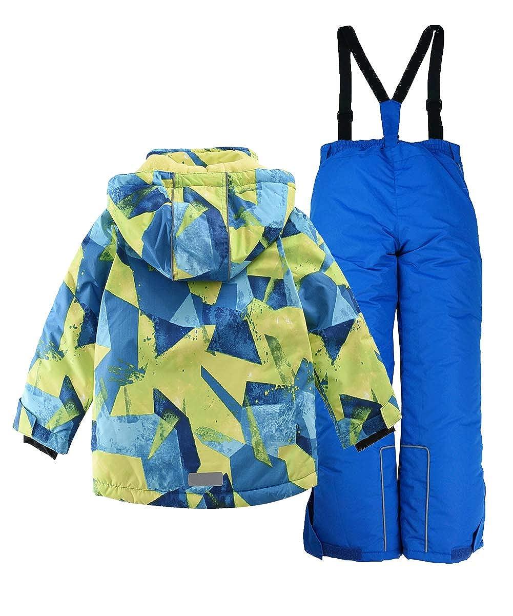 M2C Girls Thicken Warm Hooded Striped Ski Snowsuit Jacket /& Pants