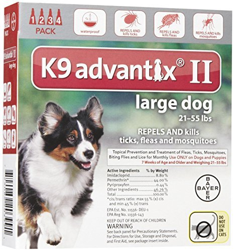 Dog Supplies K9 Advantix Ii Red 2.5Ml 21 - 55Lb 4Pk