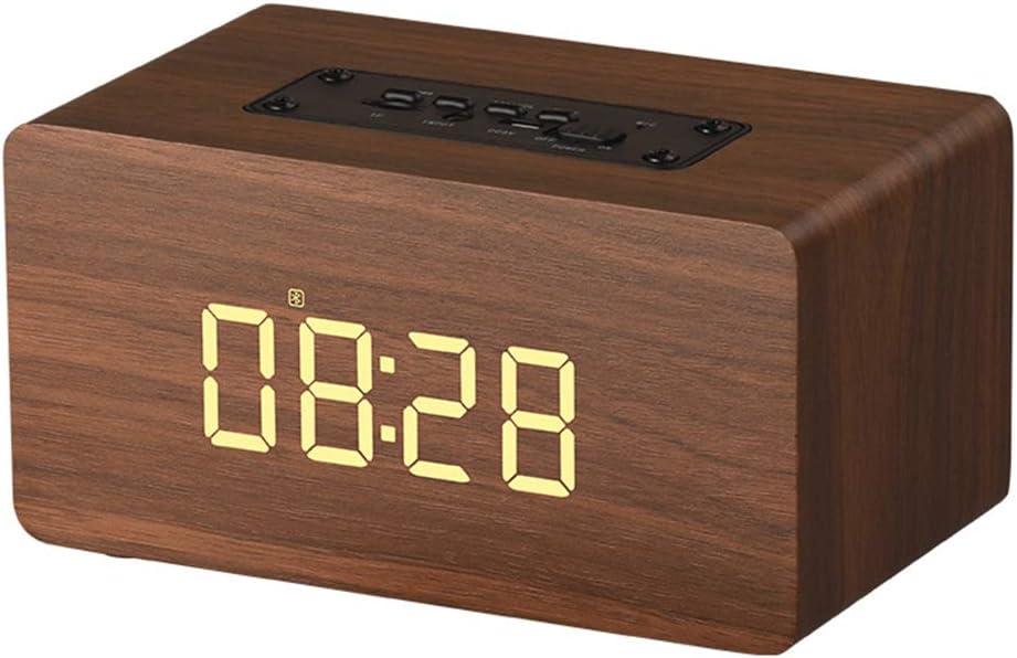 Bluetoothのスピーカー、家族、屋外、党等のためのTFカード携帯用木の目覚し時計小型無線スピーカーUSB多機能FMラジオ。,赤