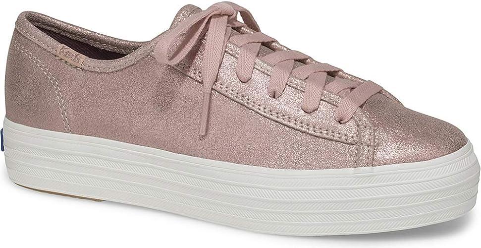 Keds Damen Kickstart Retro Perf Lea WhtGreen Sneaker, weiß