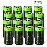 #3: Enegitech 16 Pack CR123A Rechargeable Batteries 3.7V 750mAh RCR123A 16340 Li-ion Battery for Arlo Cameras, Flashlight, Security System