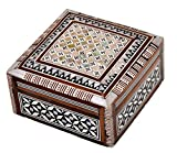 Egyptian Mosaic Jewelry Trinket Box Mother of Pearl BX4