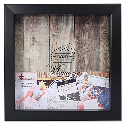 Lawrence Frames 10x10 Black Shadow Box Ticket Holder,