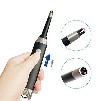 SHUNING Arc lighter-electronic Arc encendedor, encendedor USB para batería, resistente al viento, para velas, estufas, barbacoas, y Camping (Black): ...
