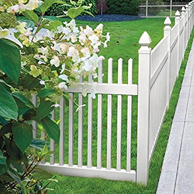 4 in. x 4 in. x 6 ft. White Vinyl Fence Line Post