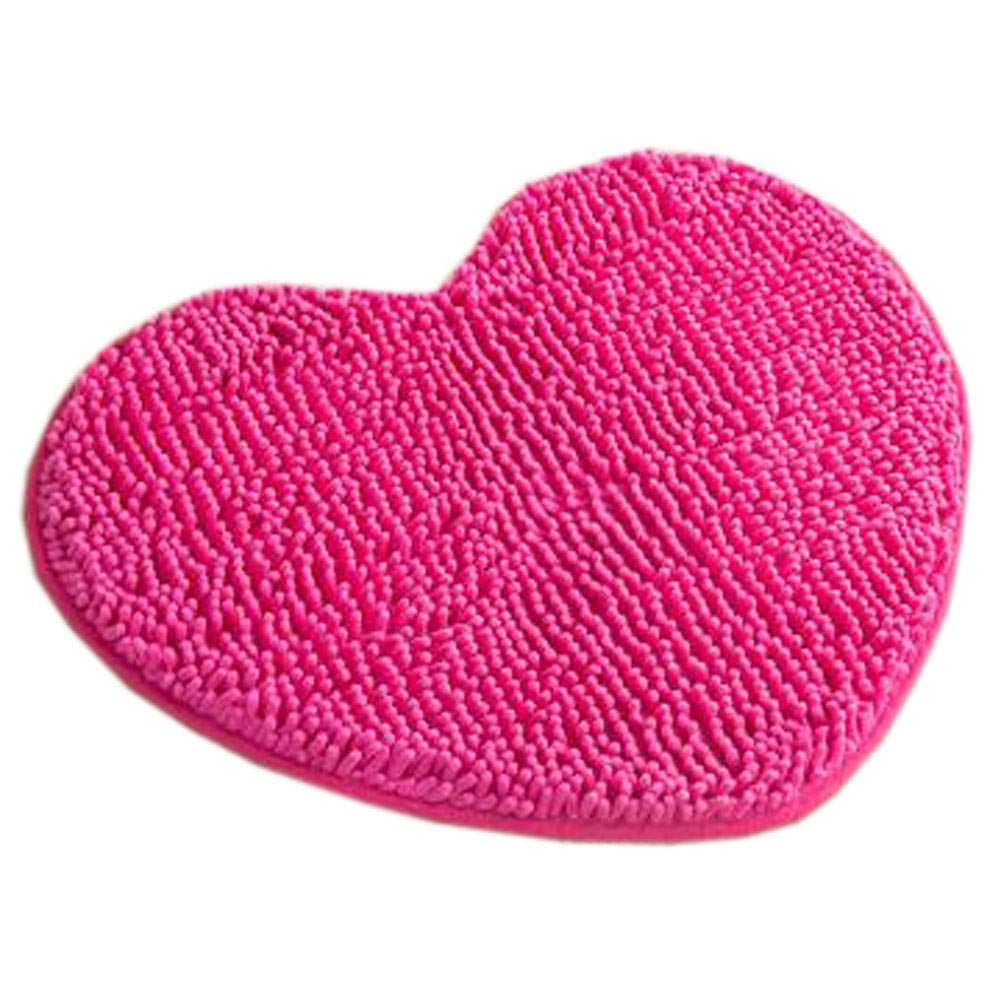 Household Outdoor-Indoor Doormats Antiskid Entrance Mat Bathroom Carpet Love Heart, Rose Red - Household Outdoor-Indoor Doormats Antiskid Entrance Mat Bathroom Carpet Love Heart, Rose Red