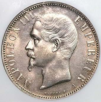 1856 Fr France Napoleon Iii Paris Mint Silver Coin