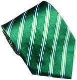 8b3a90568bc8 Mr.ZHANG New Classic Striped JACQUARD WOVEN Silk Men's Tie Necktie  (Green/White