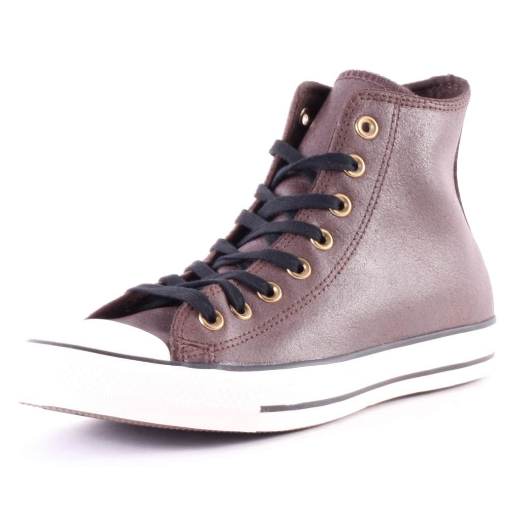 Converse Chuck Taylor All Star Leather High Top Sneaker B00QXVDFG6 5 D(M) US Burnt Umber/Black/Egret