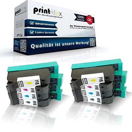 8 x Compatibles Cartuchos de Tinta para HP Designjet 750 Plus ...