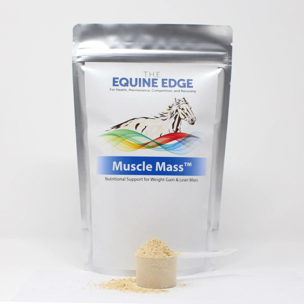 T.H.E. Equine Edge Muscle Mass - Lean Muscle & Weight Gain Supplement, 80 Servings